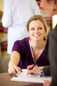 Picture of receptionist