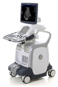 Picture of a GE Logic ultrasound machines that Partners uses