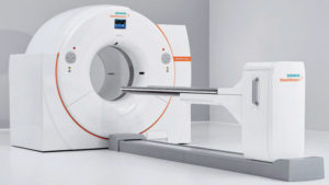 Picture of a Siemens PET/CT modality